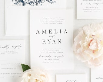 Amelia Wedding Invitations - Sample