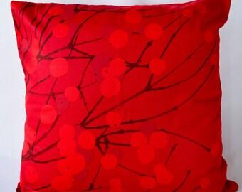 "20""x20"" Marimekko Pillow Cover.Handmade,Design Erja Hirvi,Lumimarja(50x50cm)"