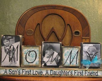 Special Order for  Lisa - Mother's Day Gift, Mom Gift, Mommy Gift, Mommy Photo Block,  Customized Mommy Sign Word Blocks,