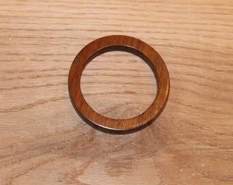 Handmade Walnut Wood Bangle Bracelet, Wood Jewelry, Cuff Bracelet, Wood Bangle Bracelets, Made in Mississippi, E207