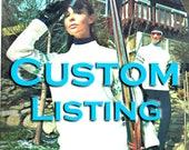 CUSTOM listing for NELLY Knitting pattern books Ski Knits etc