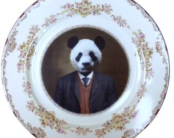 "Parker the Prosperous Panda Plate 10"""
