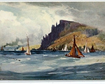 Cape Raoul Hobart Tasmania Australia A H Fullwood artist 1910c Tuck postcard