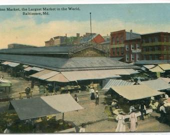 Lexington Market Baltimore Maryland 1910c postcard