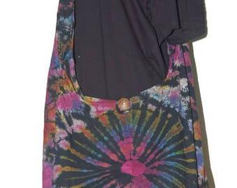 Crossbody Buddha Multicolour Tie Dye Bag, Purse Sling Messenger  Hobo Hippie no 12