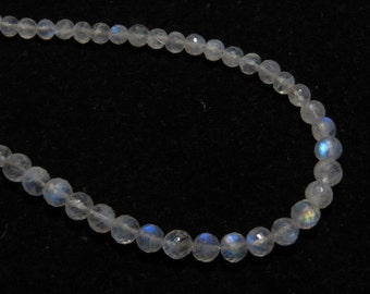 Rainbow Moonstone - AAA - High Quality - So Gorgeous Micro Cut Round Ball Beads Nice Blue Flashy Fire size - 4.- 4.5 mm 8 inches  - 52 pcs