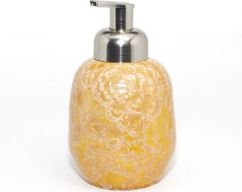 "Crystalline Glaze:  ""Honey Butter""  Foaming Soap dispenser"