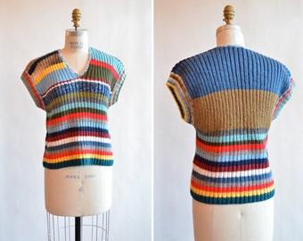 Vintage 1970s HANDKNIT sweater top