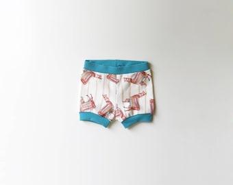 SALE | 50% OFF | Size 3-6 Months | Llamas | Llama | Organic Shorties | Shorts | Organic Baby | Festive Party Pants