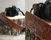 Vintage Camera Strap  //  Leather Camera Strap //  THE WILDERNESS