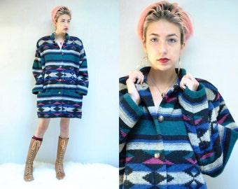 Southwest Coat  // Wool Blanket Jacket  //  MUSTANG SALLY