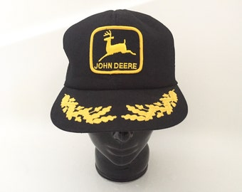 Vintage John Deere Hat - John Deere Tractor Advertising Memorabilia - Trucker Hat Vintage - Baseball Hat - Farmer Clothing