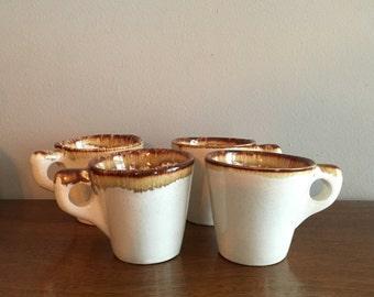 pfaltzgraff country casual brown drip mugs set of 4