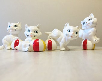 China cats, vintage cat figurines, cat ornaments, vintage figurine, vintage china cat, vintage kittens, kitten figurine, kitten ornament