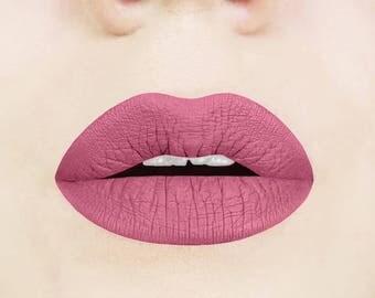 Rosy Rose Liquid Lipstick.  Matte Liquid Lipstick.  Dusty Rose Liquid Lipstick.  Vegan Liquid Lipstick.  Rose Lipstick.