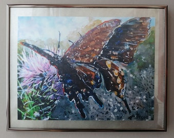 "Two Butterfly Friends, 11"" x 14"" Framed, Ready to Hang"