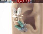 3D Butterfly Ear Cuff - Wire Wrapped Jewelry Handmade - Fantasy Earcuff - Unique Handmade Jewelry - Clip On Earing -