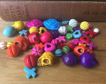 Mix Beads, Halooween, Dia del los Muertos, Day of the dead