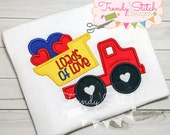 Loads Of Love Applique Machine Embroidery Design INSTANT DOWNLOAD