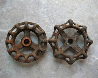 Rusty Vintage Faucet Handles