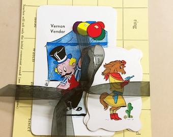 Art Journal Ephemera Vintage Paper Flash Cards Pack Scrapbook