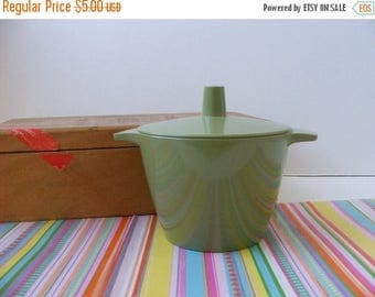 20% OFF MOVING SALE Vintage Melmac Avocado Green Lidded Sugar Bowl Dorchester Dinnerware