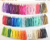 Mothers Day SALE ASSEMBLED  Tassel Garland Tissue Paper Tassels Garland Kit Set of 16 to 50 Choose your Colors and quantity