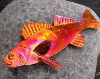 Copper Perch Fridge magnet