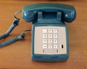 1985 Teal Gray Telephone Western Bell