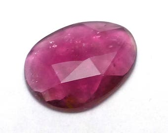Tourmaline Cabochon Rose Cut Watermelon Pink Ruby Gemstone Perfect Ring Rubellite One of a Kind Faceted Handmade Handcut