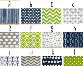 Navy, Grey and Green Custom Crib Bedding--YOU DESIGN, I CREATE