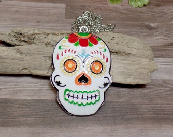 Sugar Skull Necklace - Dia Del Los Muertos - Day of the Dead