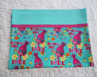 Trolls Full Size  Pillow Case