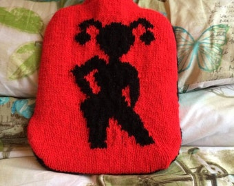 Harley Quinn Hot Water Bottle Cover - Hot Enough For Ya