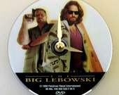 DVD clock. The Big Lebowski.  Movie clock. Clock made from a DVD. Recycled DVD.