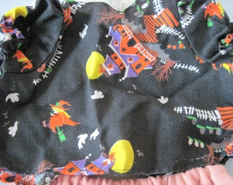 Vintage doll shirt pants Halloween haunted house witch pattern