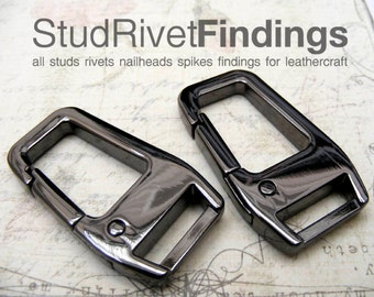 2pcs 1/2 inch (inside bar) ZINC alloy FACET SIDE push gate hook Swivel hook For Bag, Purse Strap Hardware Finding