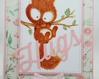 Fox Hugs - Creations By Wendalyn, Spring, Birthday, Sewn, No Line Coloring