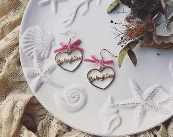 0023 Babykiss heart-shaped earrings