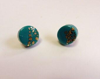 Turquoise Stud Earrings Turquoise Post Earrings Turquoise Round Stud Earrings Turquoise  Round Post Earrings Turquoise Circle Stud Earrings
