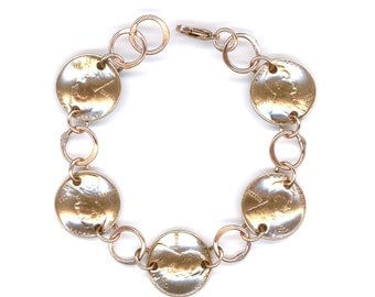 65th Birthday Gifts 1952 Penny Bracelet Coin Jewelry Gift Women
