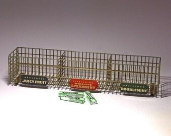 Vintage Wrigley's Gum Store Display Rack, Advertising Display Rack, Chewing Gum Display Rack - circa 1940's