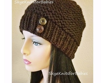 Knit Womens Hat, Knit Beanie, Winter Hat, Womens Accessories