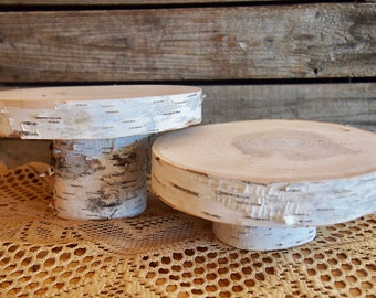 Cupcake STAND - White Birch - Natural Wood Holders - Tree Cake Stands - Perfect for Country Weddings