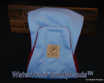 "Original ""NO-Pee"" Waterproof  BuddyBand Diaper with Pul and Zorb..All Sizes - Denim Blue"