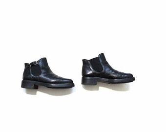 VINTAGE Black Ankle Boots Size8