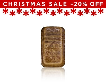 Christmas Sale -20% Off - - iPhone SE, iPhone 5 RETROMODERN aged leather pocket - - LIGHTBROWN