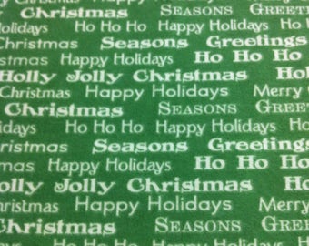 Half Yard Christmas Flannel Fabric