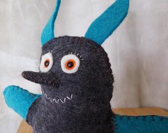 OOAK Wool Felt Stuffed Monster