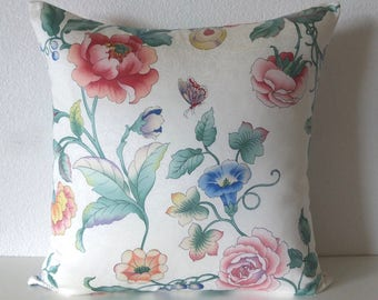 Florals Butterfly Soft Shabby Chic Pillow Cover
